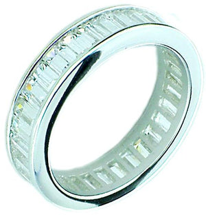 Rings Bgt Eternity Band in S/S Rhodium