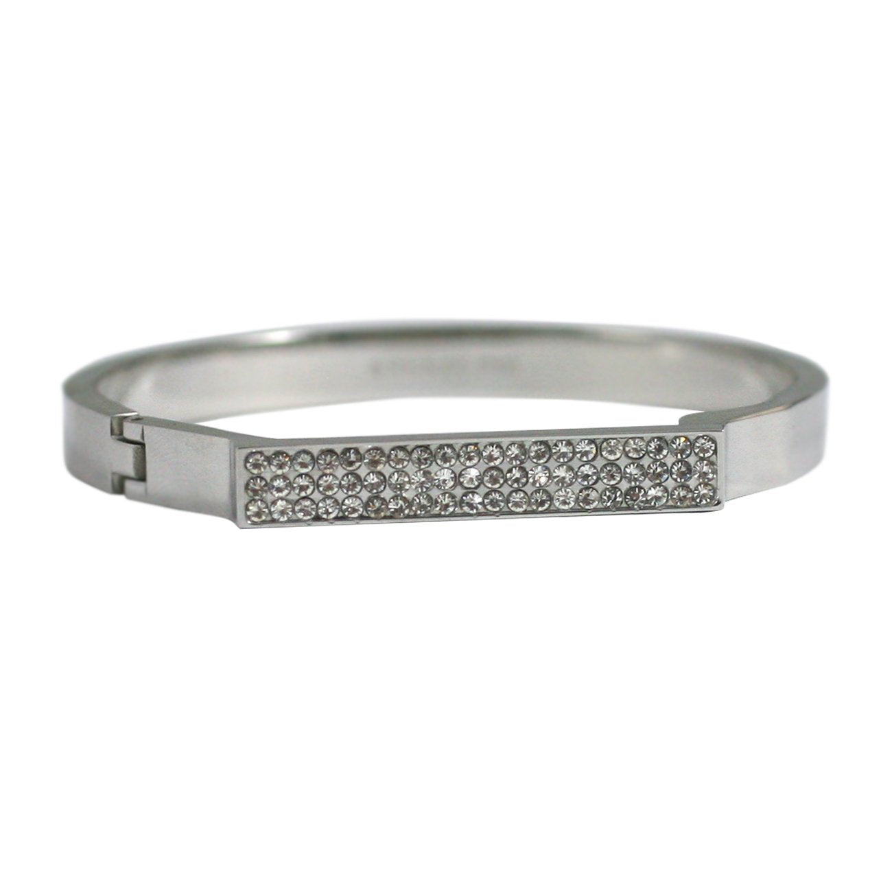 Fine Bracelet with Paved Crystal Bar Stainless Steel 655B1203