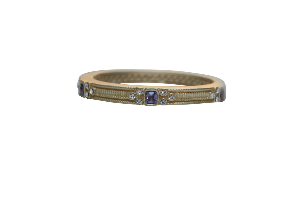 Square station Jeweled and textured Satin hinged oval Alloy base Bold bangle