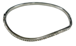 Hinged Stainless Steel Bangle-SIlver
