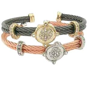Double Cable Stackable Bracelet-In Two Colors