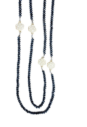 Double Beads Crystal Necklace