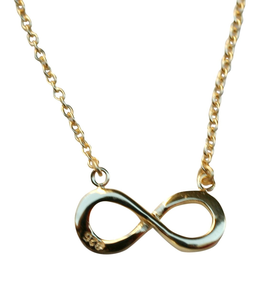 Hammered Style Infinity Pendant