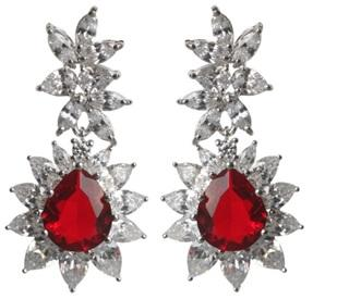 Large Brilliant Couture Post/French Clip Earrings
