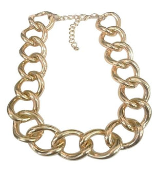 Chain Electroplated Necklace - Rhodium