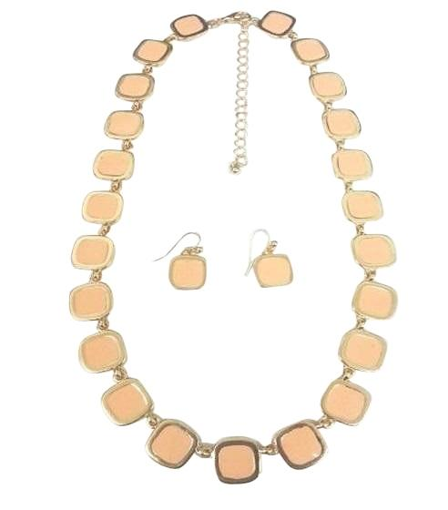 Gold Electroplated Earring And Necklace Set