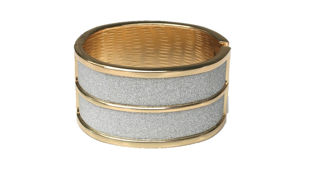 Glitter Dust Extra Wide Hinged Bangle