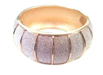Glitter Dust Hinged Dome Bangle