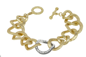 Curved Satin Chain Link Bracelet 681B5703