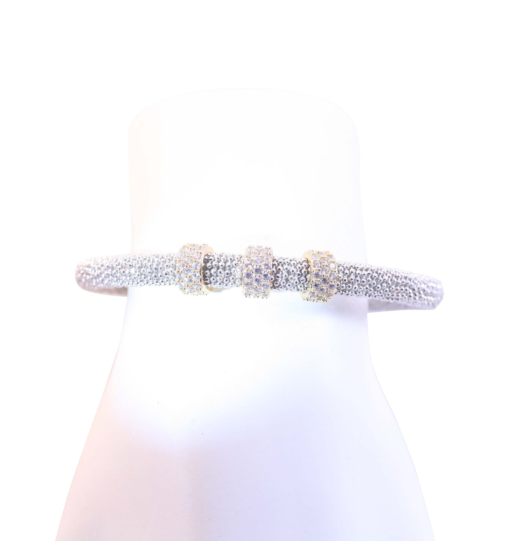 Desirable & Trendy 5mm bead Mesh Bangle Bracelet 689B490