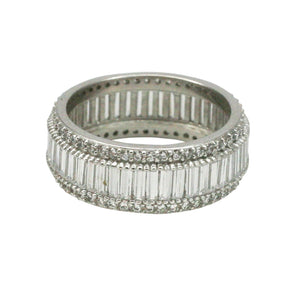 Round & Baguette Cut Eternity Ring