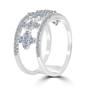 Zirconite Cubic Zirconia Sterling silver Ring str-0272