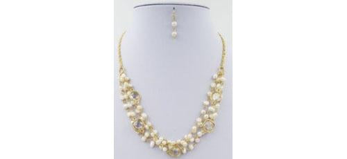4-Rows Fresh Water Pearl Necklace