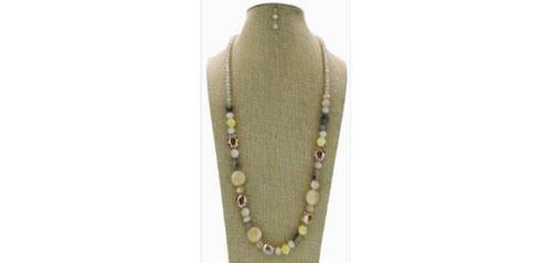 Multi-Beads Resin Long Necklace