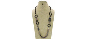 Multi-Shapes Shell Stone Beads Long Necklace