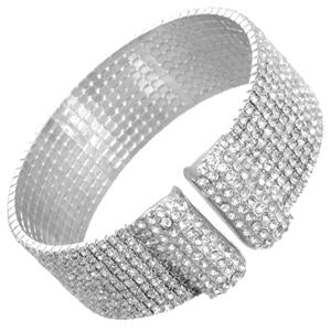 Elegant Sparkling Cuff Bracelet Paved with Crystals 629B82489CR