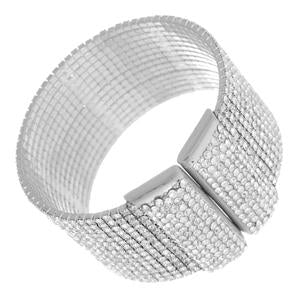 Elegant Wide Sparkling Cuff Bracelet Paved with Crystals 629B82490