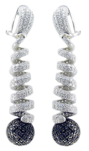 E/R Pave Spring W/ 14Mm Mop in S/S Rhodium