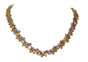 Couture cluster Necklace all around Zirconite