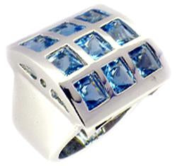 Ring Top Sq Cz's