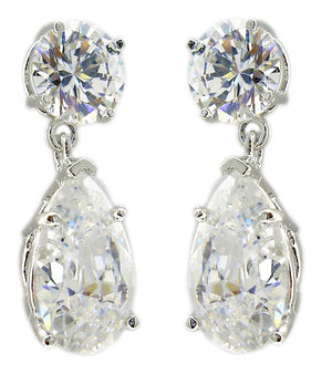 Earring Ophra Tear Color Drop Cz