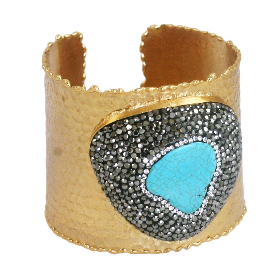 Boho with a Modern Twist Jeweled Turquise Ring 696B4497