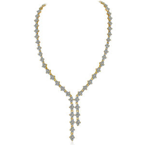 Zirconite Cubic zirconia Tassel Tassel Necklace. 628N80024R