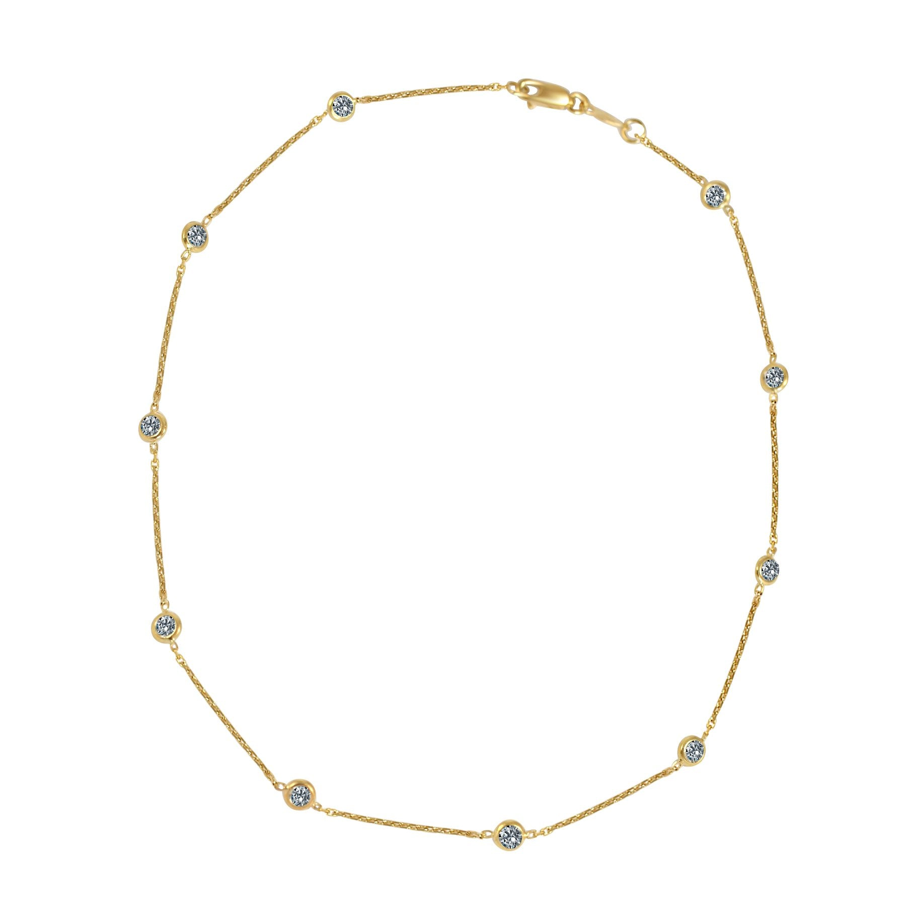 Zirconite by the cubic inch necklace brass base rhodium electro-plated