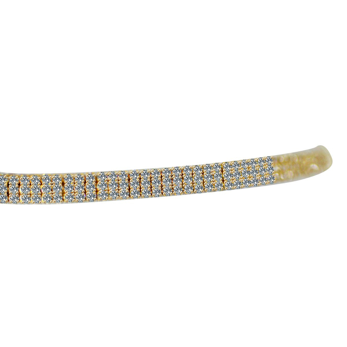 3-ROW FINE CRYSTAL RHINESTONES CHOKER NECKLACE 700C0073