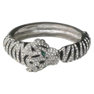 Tiger Stripes Rhodium Bangle