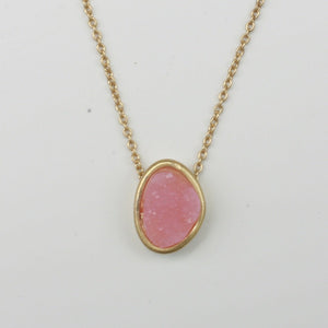 Rich Textured Satin Bezel Alloy Setting Pendant
