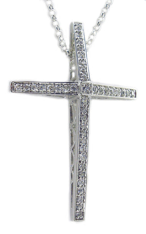 3mm Cz Cross Pendant