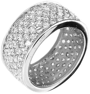 Ring Wide Band with Cz's Pave Set