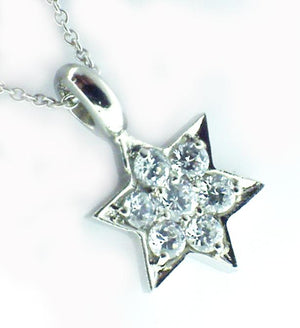 Link with Star of David S/S Rhodium