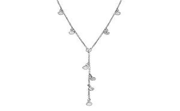 STERLING SILVER ZIRCONITE Y SHAPE CABLE CHAIN NECKLACE