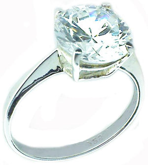 2Ct Solitaire Round Sterling silver Ring