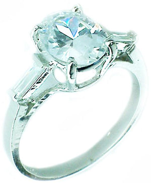 8Ct Oval center Cz Sterling silver Ring