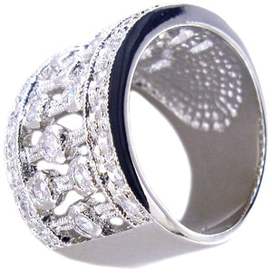 Ring Wide Pave Cz Band