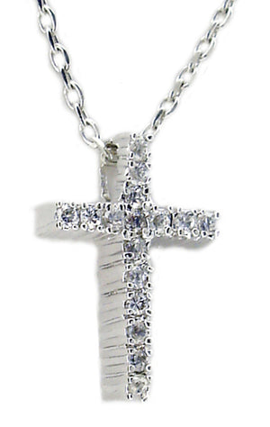 Link with 10X15 Cz Cross Pendant
