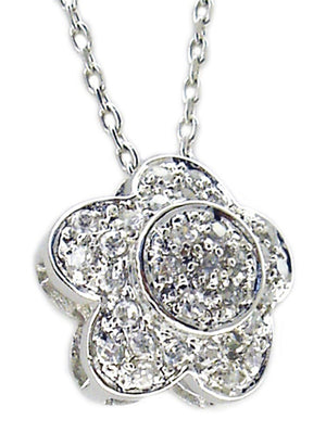 Link Pave Snow Pendant in S/S Rhodium