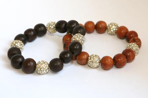 Natural Wood Beads Stretch Bracelet