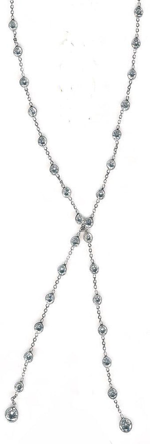 Diamond by the Yard Lariat 14K Gold necklace