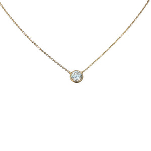 Solitaire round single carat cz pendant