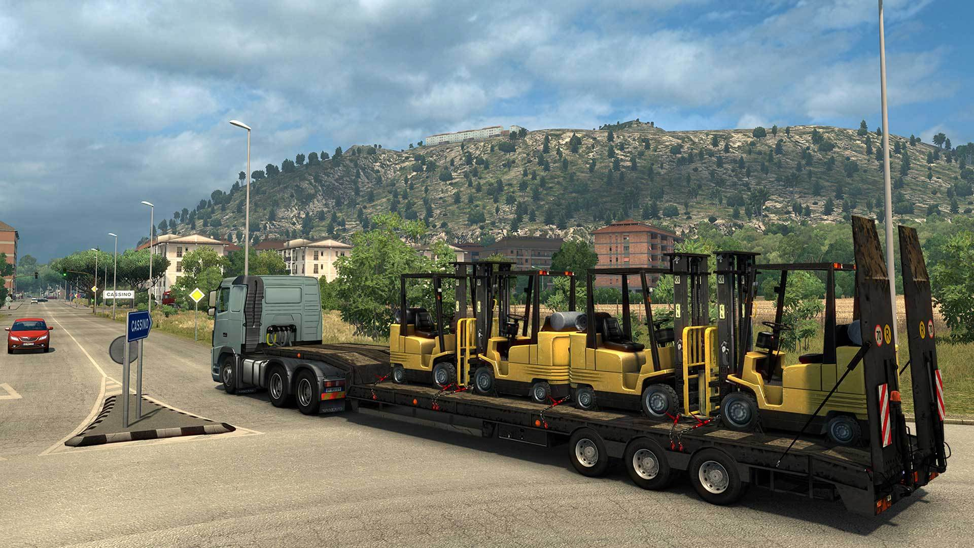 this new dlc map expands euro truck simulator 2 with the beautiful country of italy enjoy the diverse regions of this historic rich country with