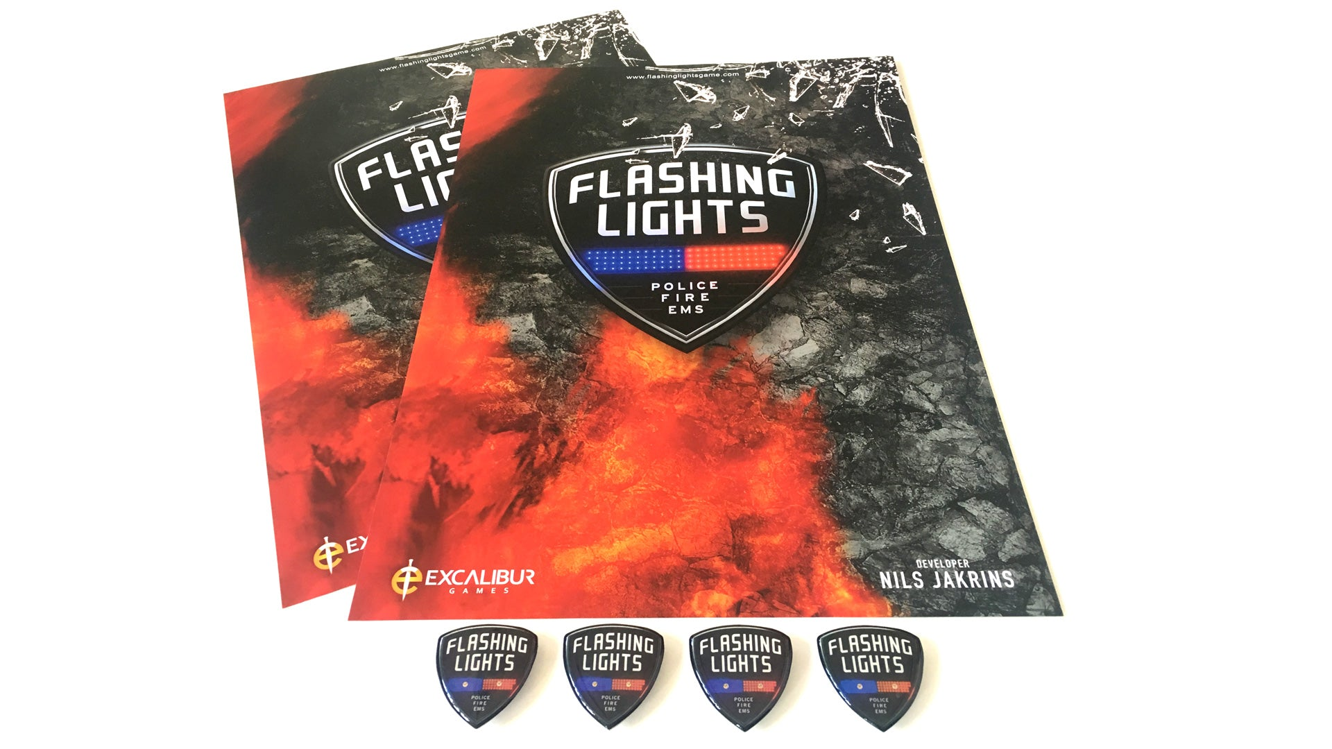 Flashing Lights – Badges and Posters Pack
