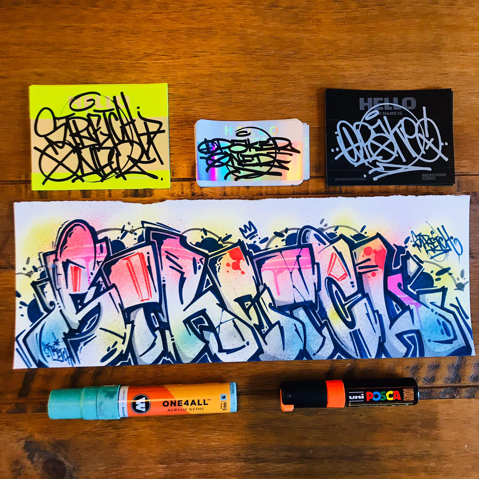 Mixed Sticker Pack with Custom Sketch