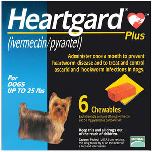 Heartgard Plus Chewable 1-25 lbs