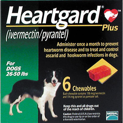 Heartgard Plus Chewable 26-50 lbs