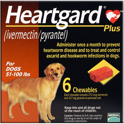 Heartgard Plus Chewable 51-100 lbs