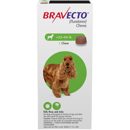 Bravecto Chewable 500mg Dogs 22.1-44 lbs
